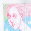 Zeichnung, Blau, Rot, Zeichnungen