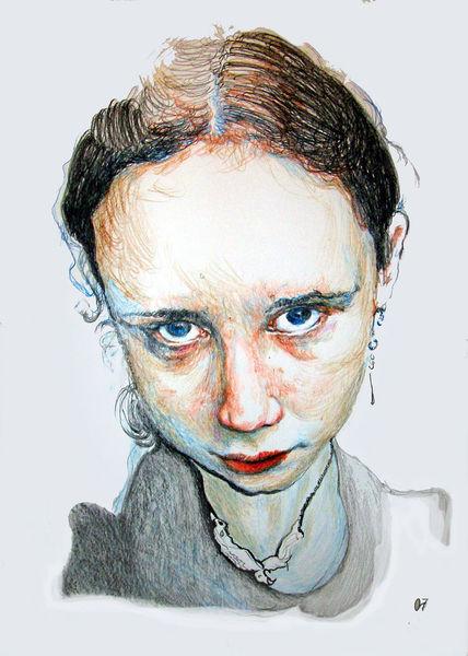 Kopf, Farben, Portrait, Zeichnungen, Menschen