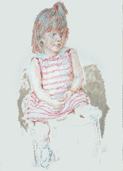 Portrait, Farben, Kind, Kopf, Hand, Zeichnungen