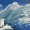 Eis, Ölmalerei, Eisbär, Klimawandel
