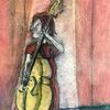 Bühne, Pastellmalerei, Bass, Malerei