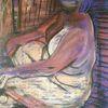 Jalousie, Pastellmalerei, Malerei,