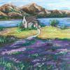 Schottland, See, Kirche, Landschaft