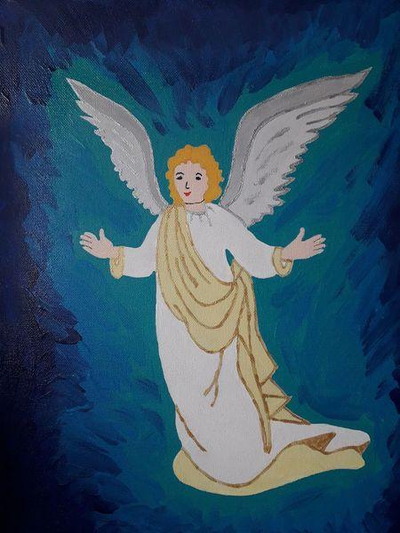 Engel, Weltall, Schutz, Malerei