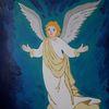 Weltall, Schutz, Engel, Malerei