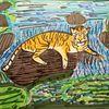 Ausruhen, Tiger, Zoo, Sprungbereit