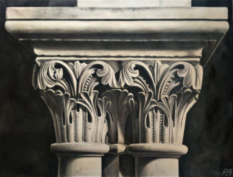 Korinthisches kapitell, Säule, Griechisch, Malerei marcel heinze, Architektur, Malerei