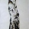 Baum, Studie, Pastellmalerei, Birkenstamm