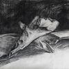 Zeichnung, Malerei marcel heinze, Holz, Studie