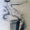 Studie, Akt, Raffaelo santi, Malerei marcel heinze