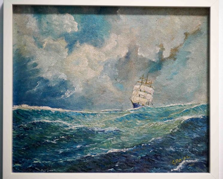 Pinnwand, Sturm, Segelschiff