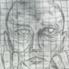 Mann, Gitter, Verzweiflung, Zeichnungen