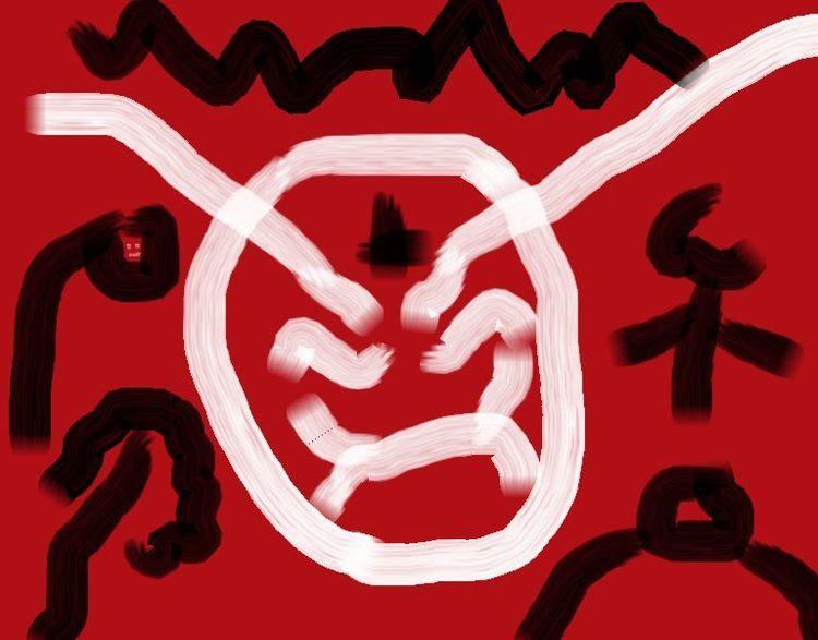 Freud, Bizarr, Psychoanalyse, Samurai, Malerei, Digitale kunst