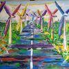 Bunt, Blumen, Natur, Windmühle