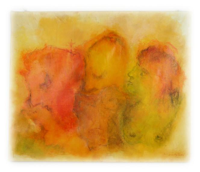 Gelb, Rot, Gesicht, Geist, Ölmalerei, Malerei