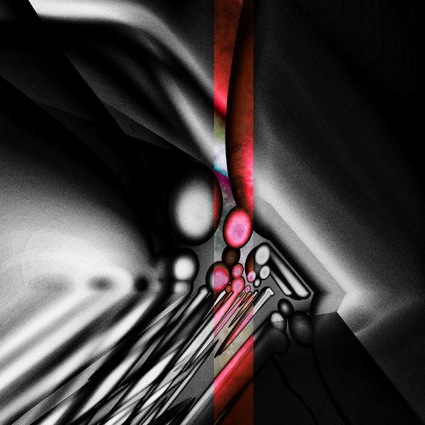 Schwarz, Rot schwarz, Abstrakt, Monochrom, Digitale kunst
