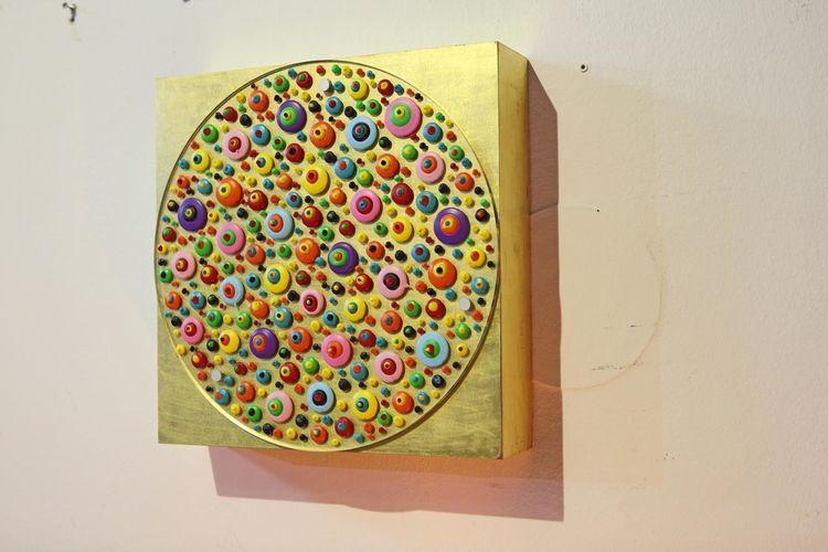 Bunt, Acrylmalerei, Gemälde, Hoffnung, Holz, Kinder