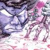 Dämon, Geisteskrankheit, Brücke, Zeichnung