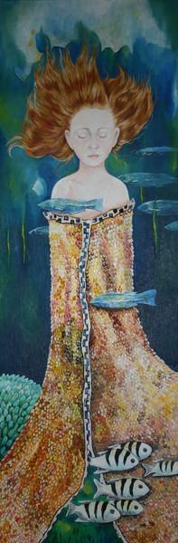 Nixe, Fische, Malerei, Surreal