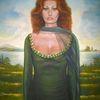 Öl portrait, Diva, Italiano, Italienische