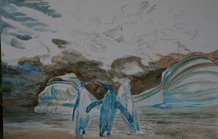 Arktis, Fantasie, Energie, Eis, Tiermalerei, Realismus
