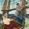 Frau, Wasser, Rudern, Boot
