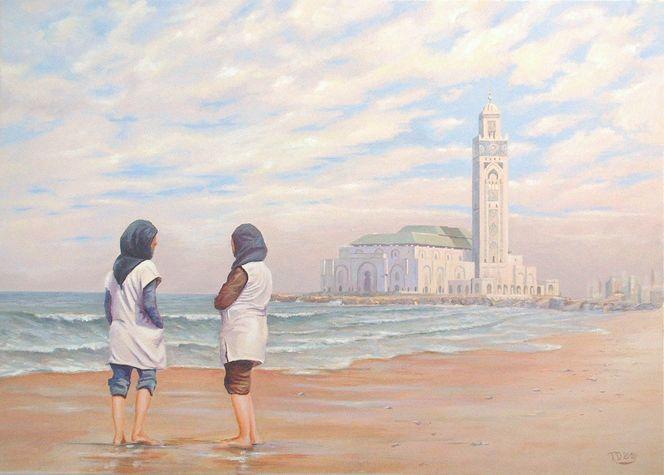 Arabisch, Malerei, Arabe, Orientalist, Menschen, Modern