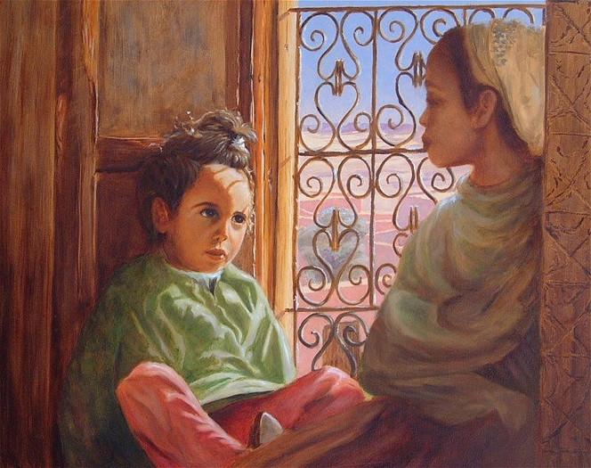 Orient, Malen, Gegenwartskunst, Orientalismus, Marokko, Portrait
