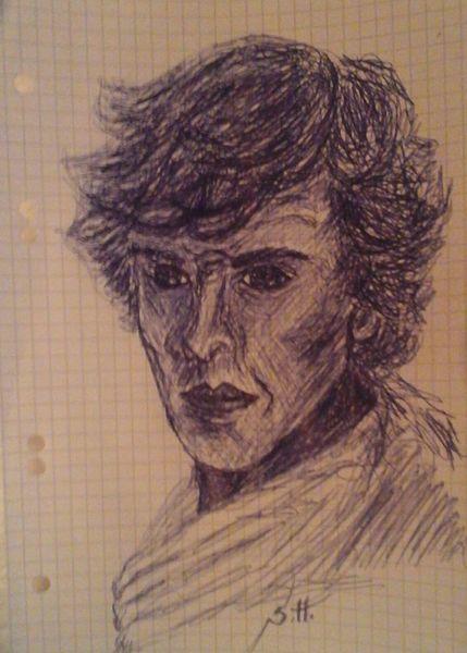 Cumberbatch, Bakerstreet, Sherlock holmes, London, Zeichnungen