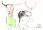 Petrus, Akkordeon, Hirsch, Tiere