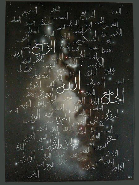 Glaube, Ölmalerei, Himmel, Jenseits, Namen, Milchstraße