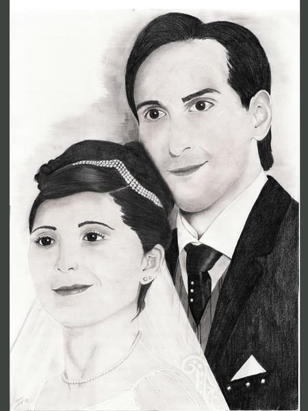 Glück, Hochzeit, Liebe, Portrait, Zeichnungen