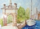 Tor, Emden, Aquarellmalerei, Malerei