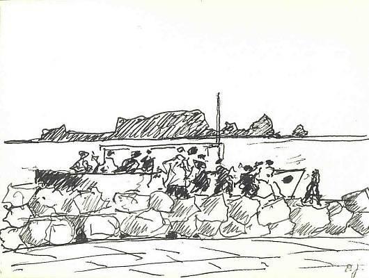 Skizze, Malerei, Zeichnung, Bootsausflug, Zeichnungen,