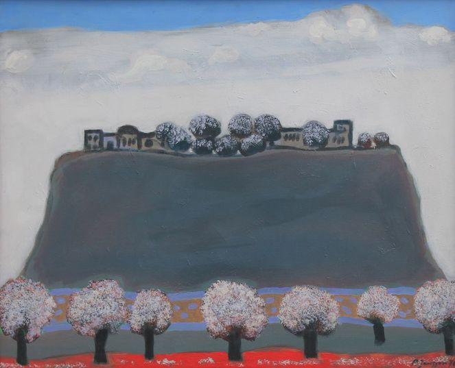 1976, Impressionismus, Gemälde, Surreal, Landschaft, Düsseldorf