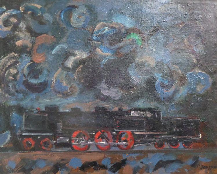 Lokomo2 verkehr lokomotive, Malerei, Lokomotive