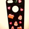 Erdbeeren, Handy, Design, Glitzer