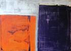 Farbfeldmalerei, Orange, Brombeere, Spachteltechnik