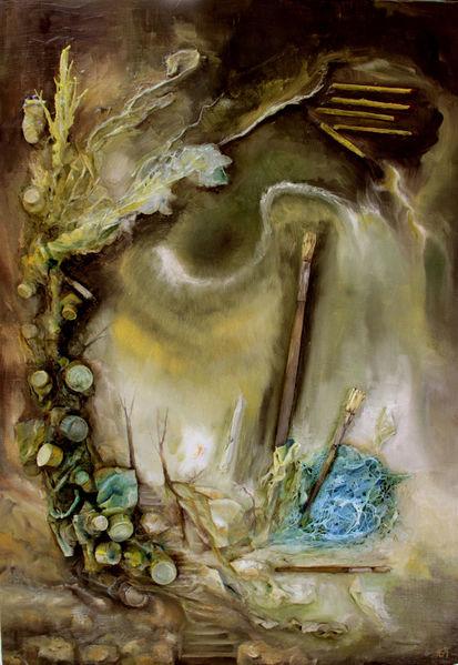 Malerei, Fantasie, Surreal, Weg