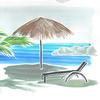 Curacao, Meer, Strand, Strandliege