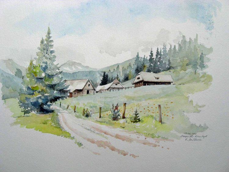 Steiermark, Aquarellmalerei, Landschaft, Aquarell, Österreich