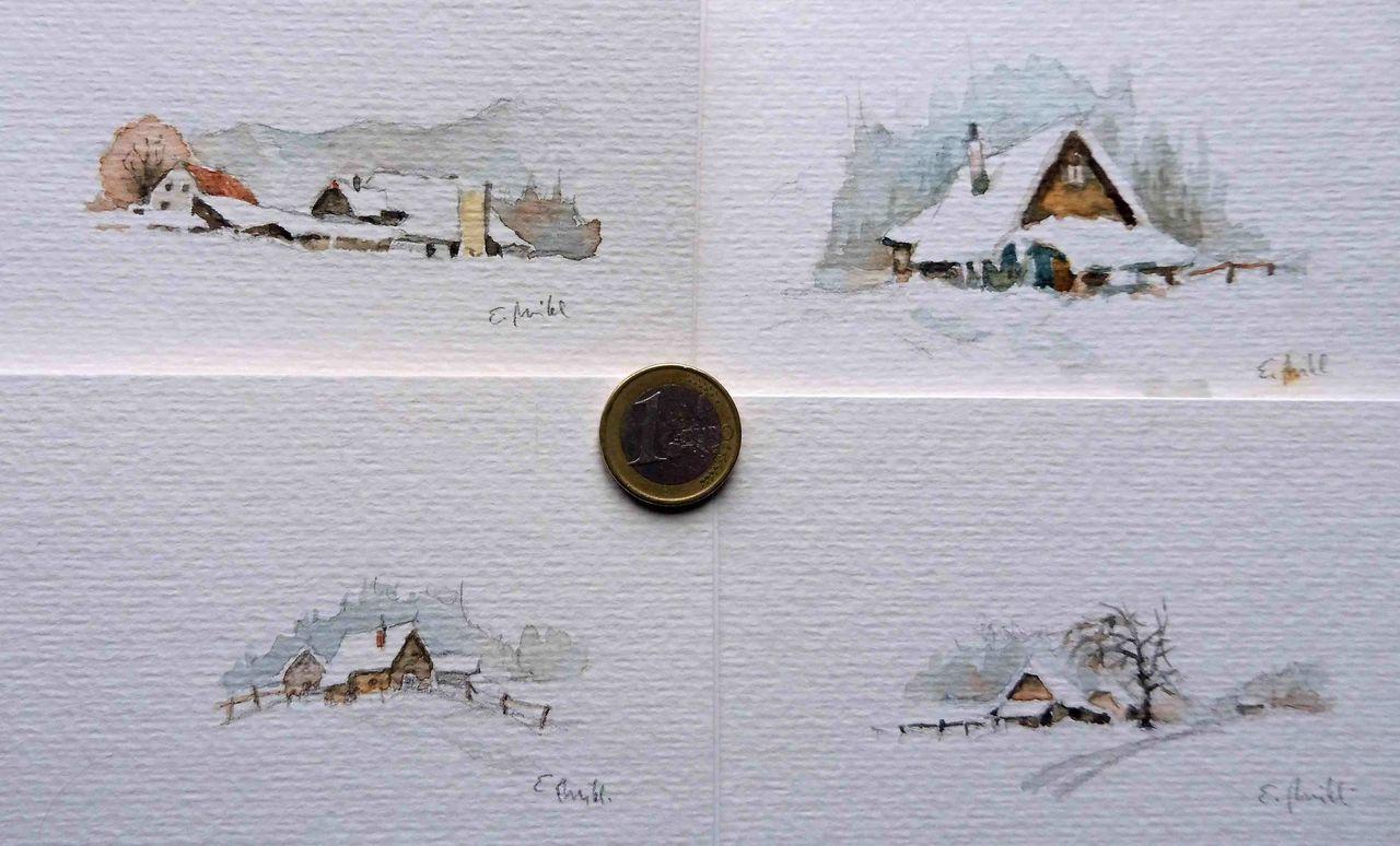 bild winterlandschaft sterreich weihnachten h tte von egon miklavcic bei kunstnet. Black Bedroom Furniture Sets. Home Design Ideas