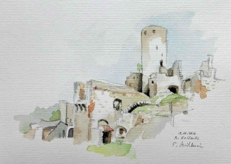 Burg, Niederösterreich, Raabstal, Ruine, Aquarell