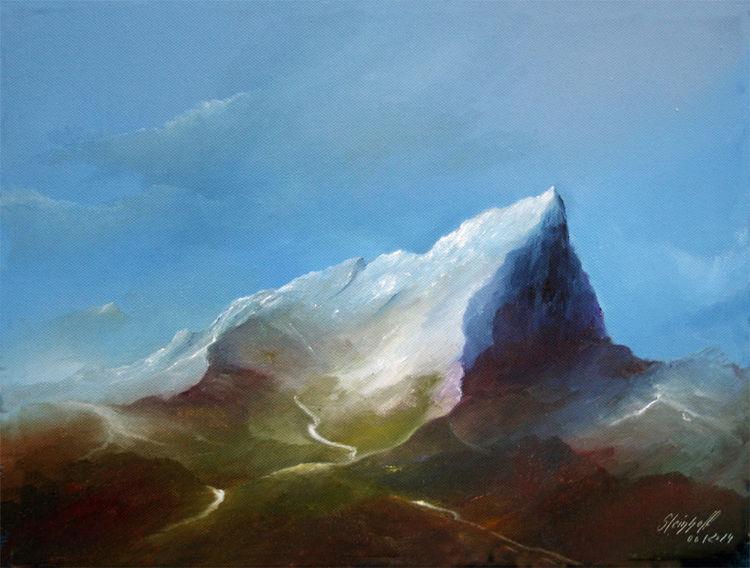 Sommer, Berge, Rausch, Süden, Malerei, Schaften