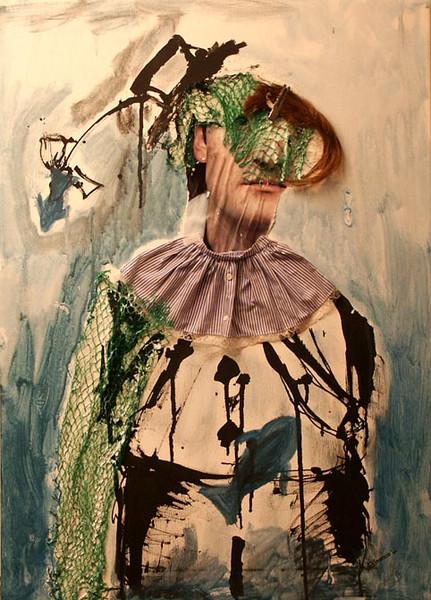 Malerei, Figural, Netz