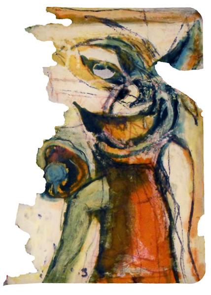 Figur, Tagebuch, Malerei, Dezember, 2009,
