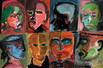 Figur, Menschen, Gesicht, Malerei