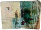 Fackel, Dunkel, Portrait, Gesicht