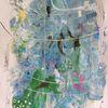 Faden, Raum, Blätter, Perlen