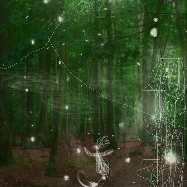 Geistchen, Licht, Zwischenwelten, Mischtechnik, Experimentell